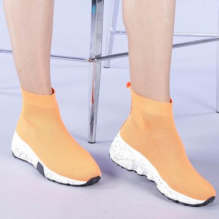 Pantofi sport dama Dalia portocalii0