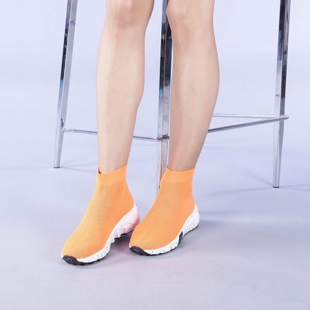 Pantofi sport dama Dalia portocalii1