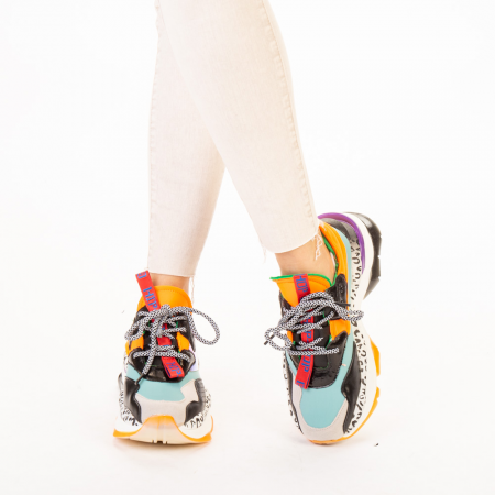 Pantofi sport dama Detta albastri multicolor1