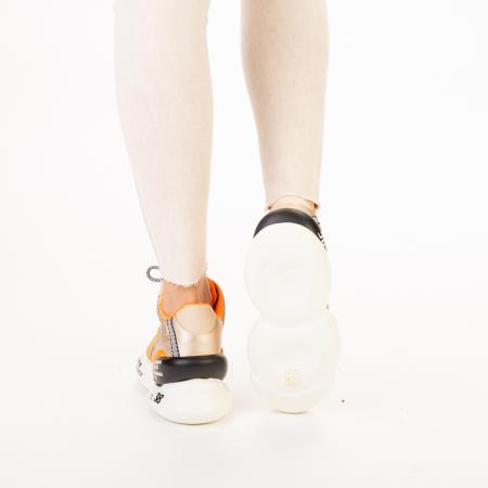 Pantofi sport dama Doreta bej multicolor3