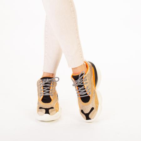 Pantofi sport dama Doreta bej multicolor1