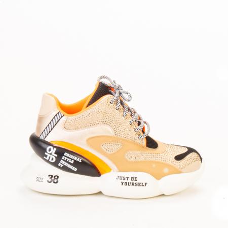 Pantofi sport dama Doreta bej multicolor0