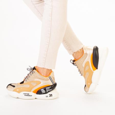 Pantofi sport dama Doreta bej multicolor2