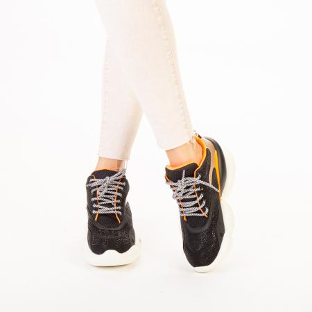 Pantofi sport dama Doreta negri1