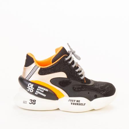 Pantofi sport dama Doreta negri0