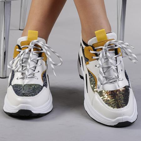 Pantofi sport dama Eduarda albi0