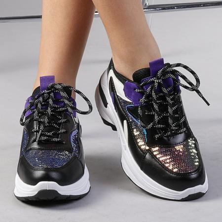 Pantofi sport dama Eduarda negri0