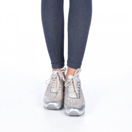 Pantofi sport dama Emillia argintii2
