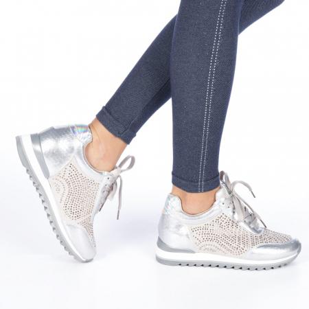 Pantofi sport dama Emillia argintii0