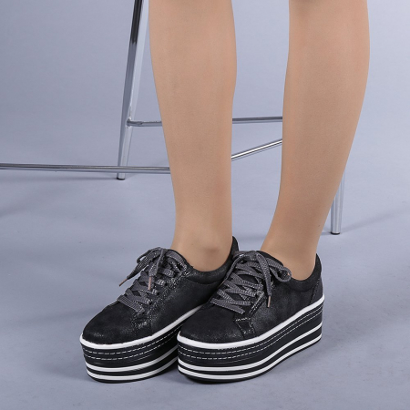 Pantofi sport dama Evolette gri2