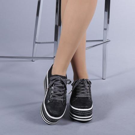 Pantofi sport dama Evolette gri1