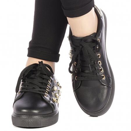 Pantofi sport dama Farimo negri1