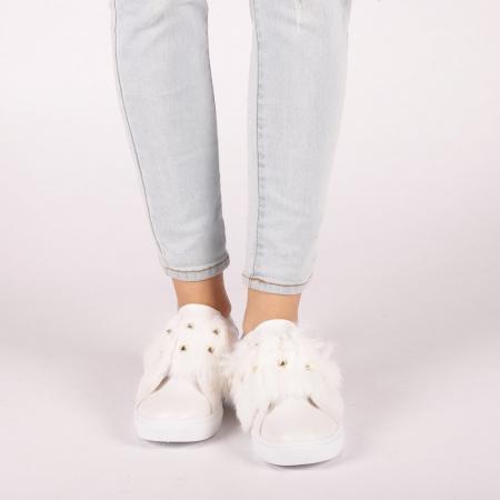 Pantofi sport dama Fedora albi1