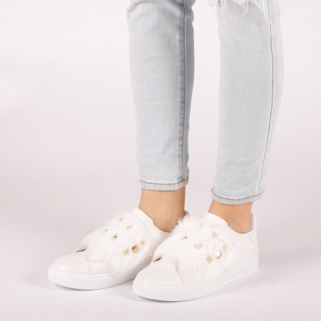 Pantofi sport dama Fedora albi3