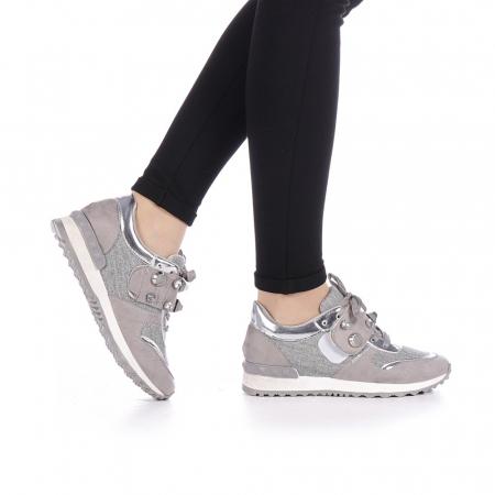 Pantofi sport dama Femos argintii0