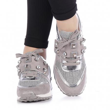 Pantofi sport dama Femos argintii3