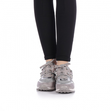 Pantofi sport dama Femos argintii2