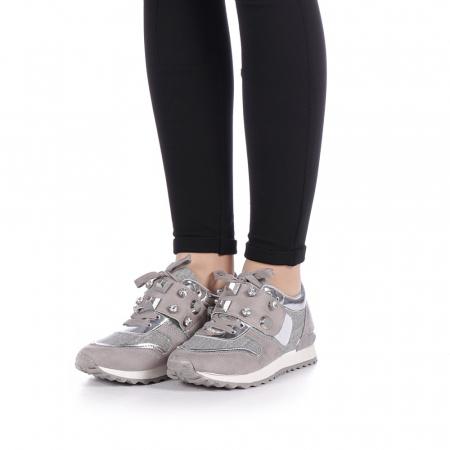 Pantofi sport dama Femos argintii4