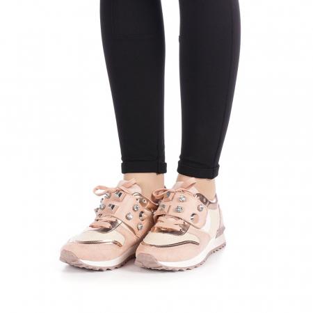 Pantofi sport dama Femos roz2