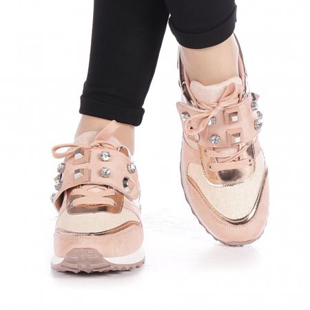 Pantofi sport dama Femos roz1
