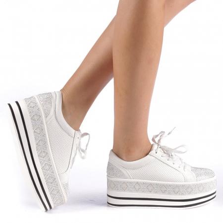 Pantofi sport dama Feodora albi0