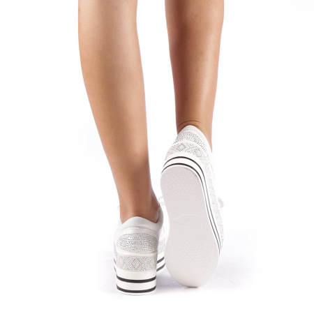 Pantofi sport dama Feodora albi2