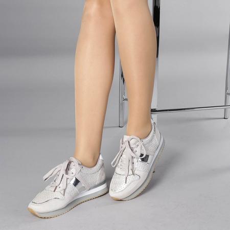 Pantofi sport dama Fiona gri2