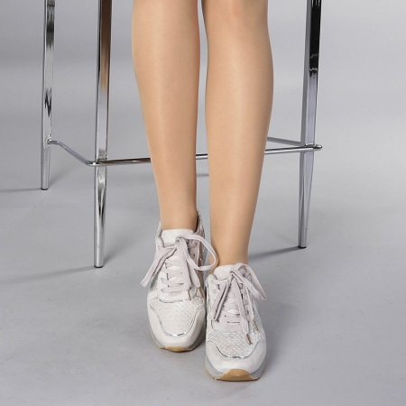 Pantofi sport dama Fiona gri1