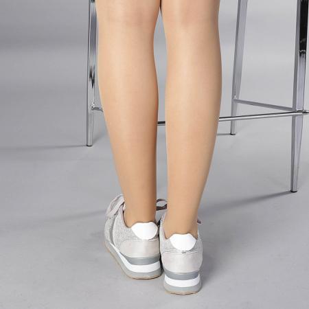 Pantofi sport dama Fiona gri3