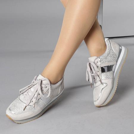 Pantofi sport dama Fiona gri0