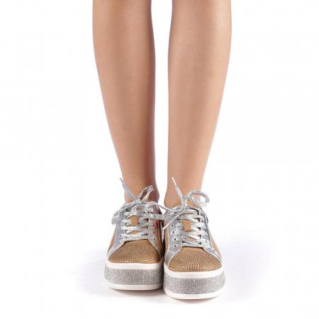Pantofi sport dama Flavia camel3