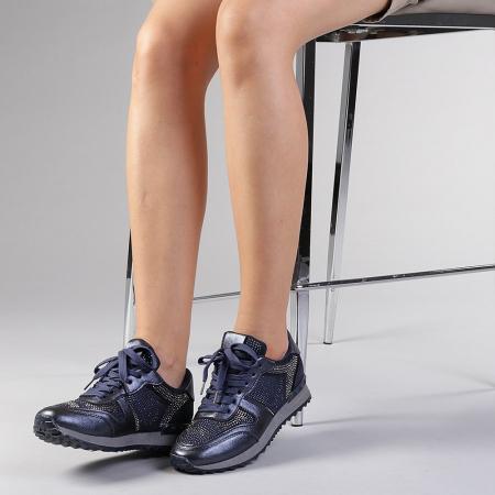 Pantofi sport dama Fleurette albastri2