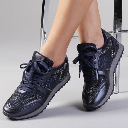 Pantofi sport dama Fleurette albastri0