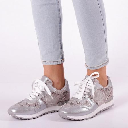 Pantofi sport dama Fleurette argintii3