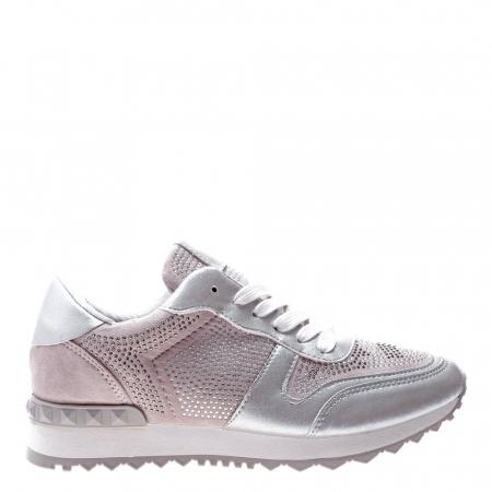 Pantofi sport dama Fleurette argintii1