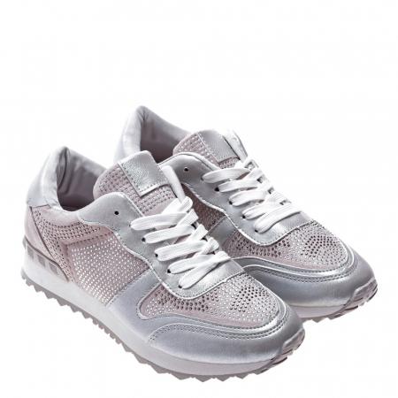 Pantofi sport dama Fleurette argintii2