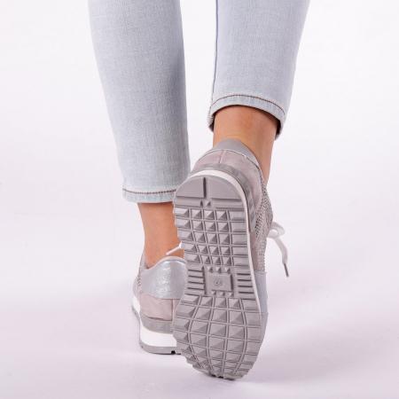 Pantofi sport dama Fleurette argintii4