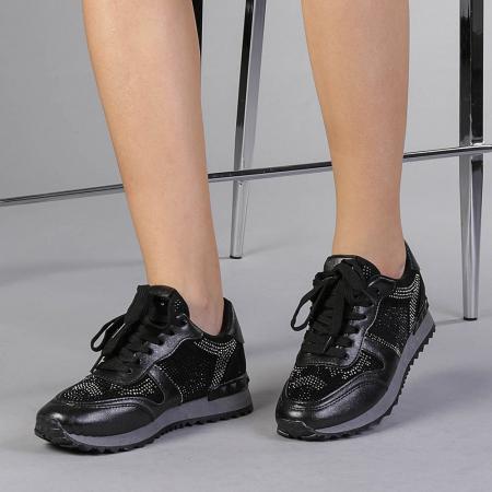 Pantofi sport dama Fleurette negri2