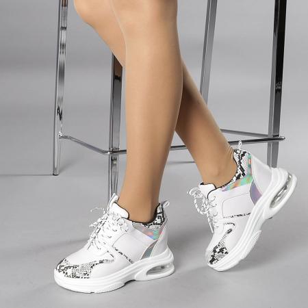 Pantofi sport dama Florice albi2