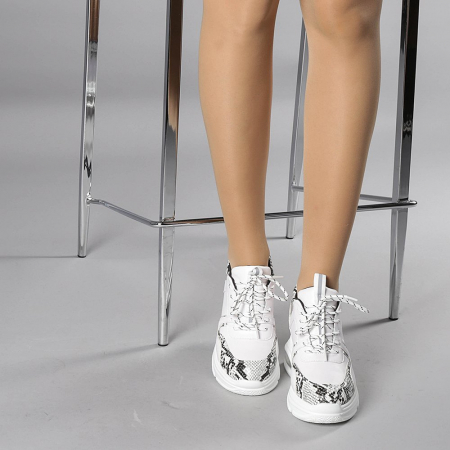 Pantofi sport dama Florice albi1