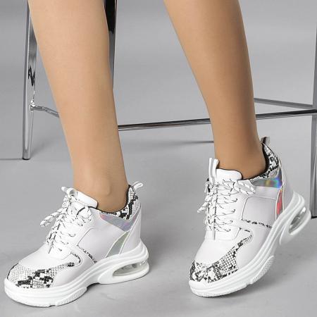 Pantofi sport dama Florice albi0