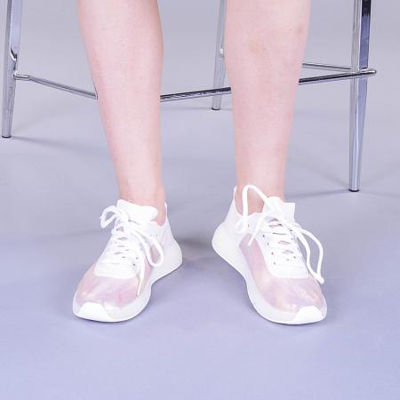 Pantofi sport dama Ginia albi2