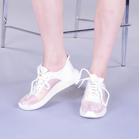 Pantofi sport dama Ginia albi3