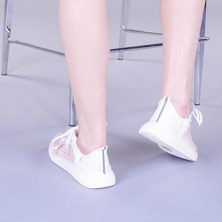 Pantofi sport dama Ginia albi1