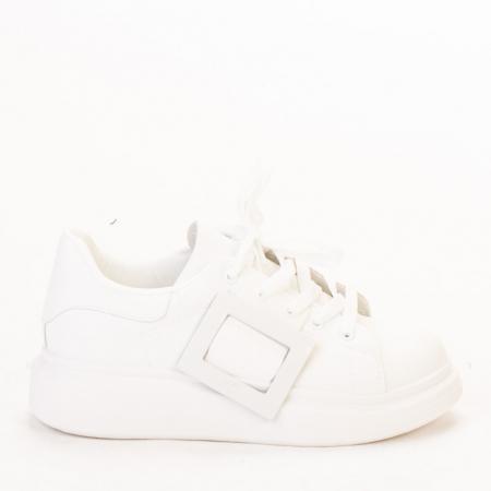 Pantofi sport dama Idona albi0