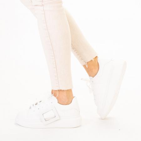 Pantofi sport dama Idona albi2