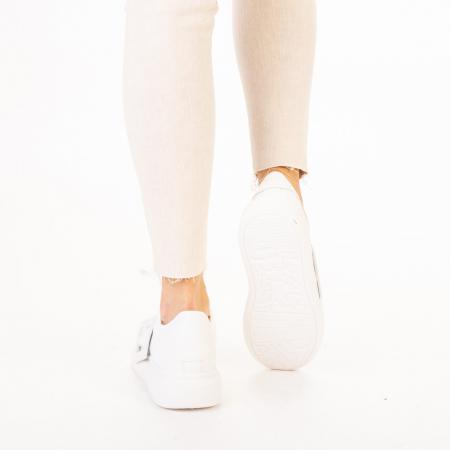 Pantofi sport dama Idona albi3