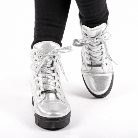 Pantofi sport dama  Jolly argintii4