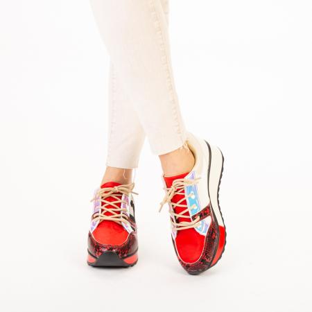 Pantofi sport dama Karem rosii1