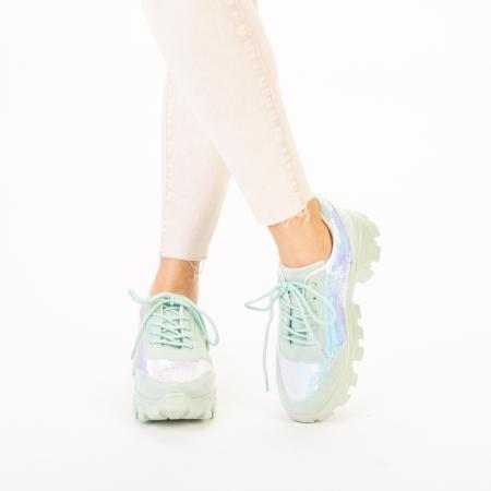 Pantofi sport dama Liberta verzi1